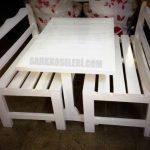 Beyaz sedir masa takımı